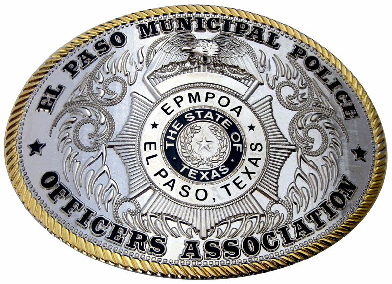 custom police belt buckles